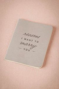 REASONS TO MARRY YOU BOOK