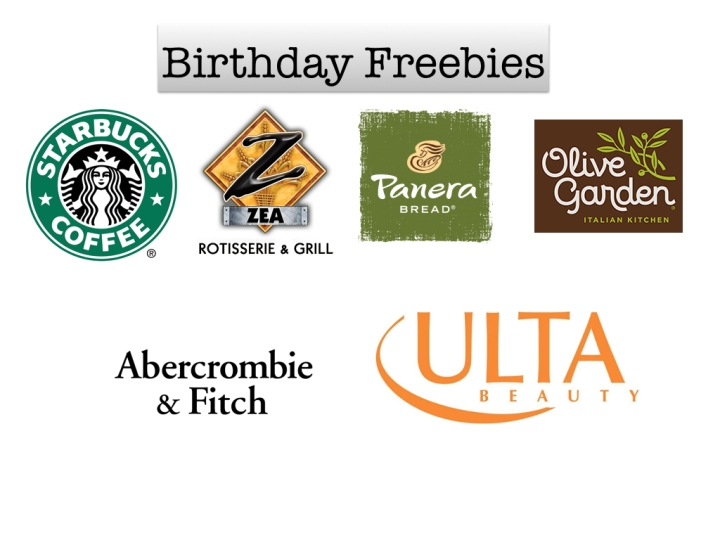 Birthday Freebies & Coupons